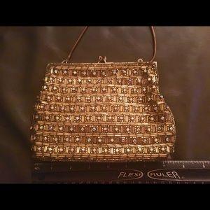 Bags - EUC! GORGEOUS vintage AB crystal gold handmade bag